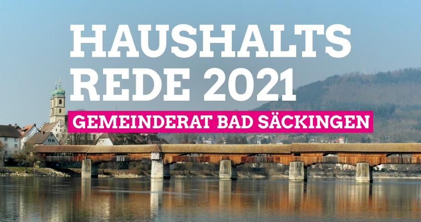 Gemeinderat Bad Säckingen: Haushaltsrede 2021