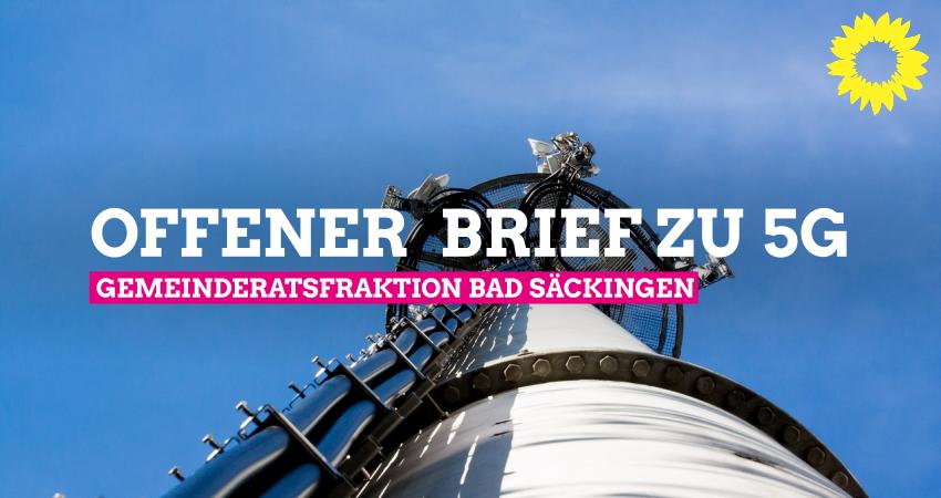 Offener Brief der Gemeinderatsfraktion Bad Säckingen zu 5G