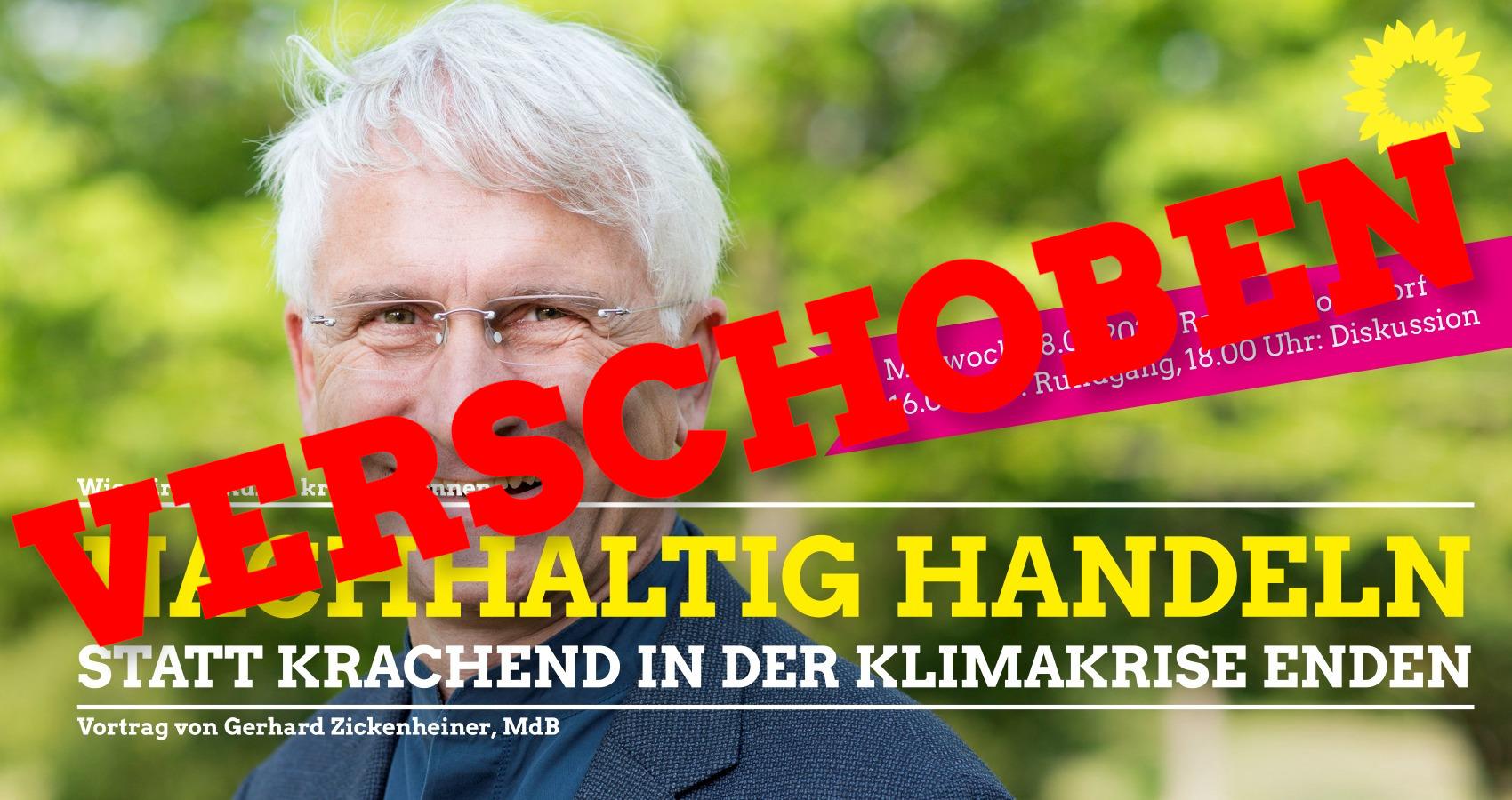 ABSAGE/VERSCHOBEN –  Diskussion mit Gerhard Zickenheiner, MdB in BONNDORF