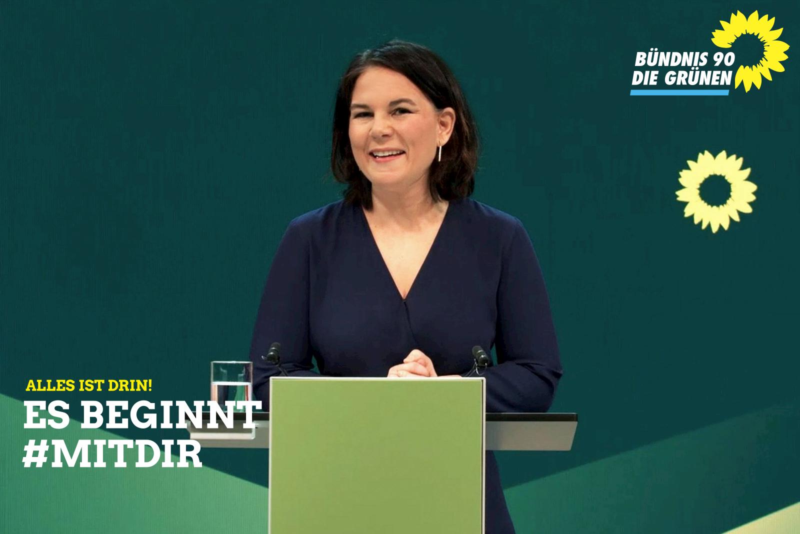 Die erste Grüne Kanzlerkandidatin.