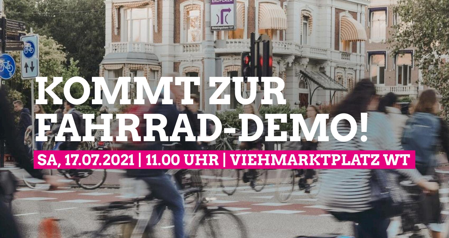 Fahrrad-Demo in Waldshut am 17.07.2021