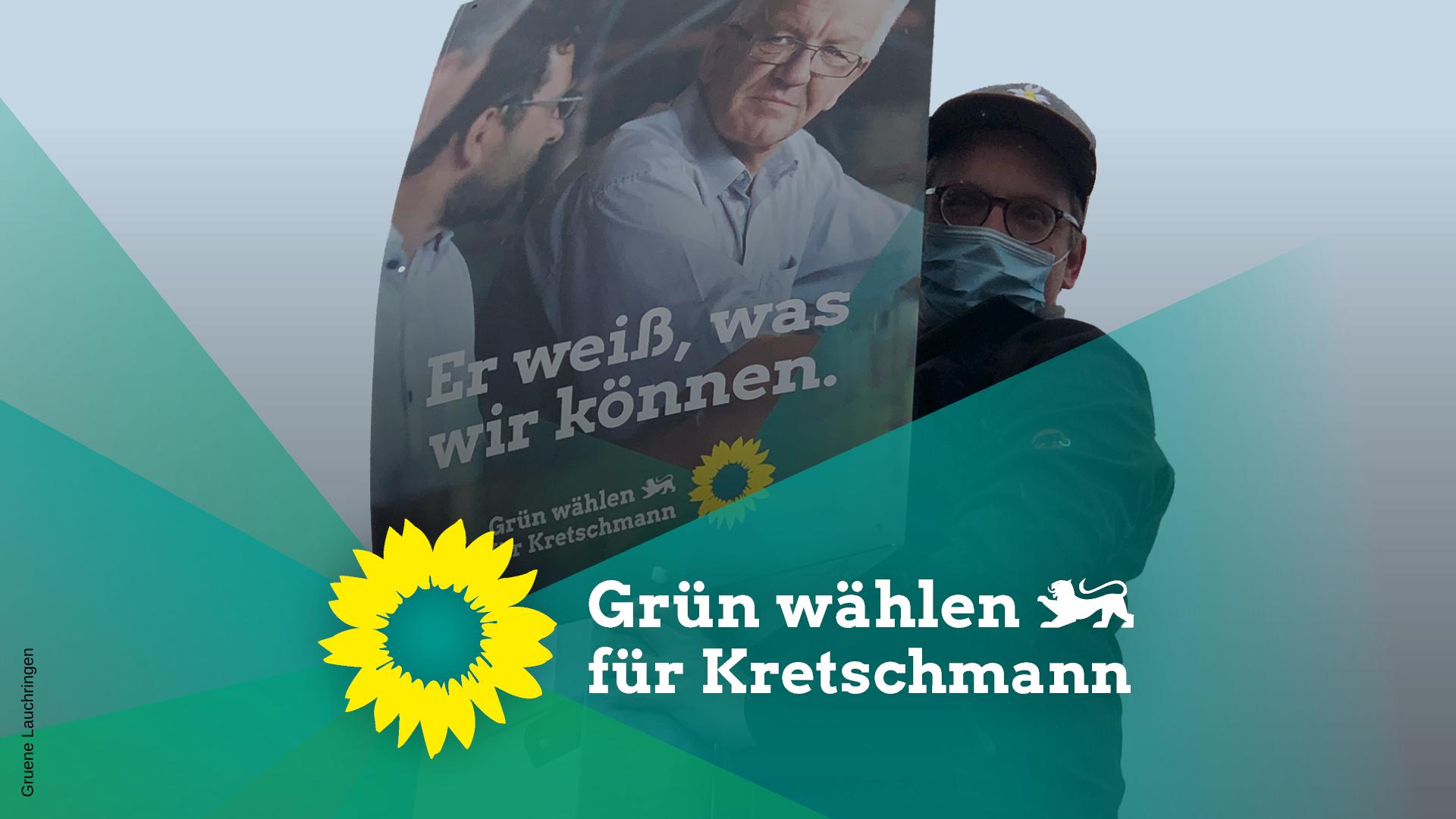 Plakate zur Landtagswahl in Lauchringen