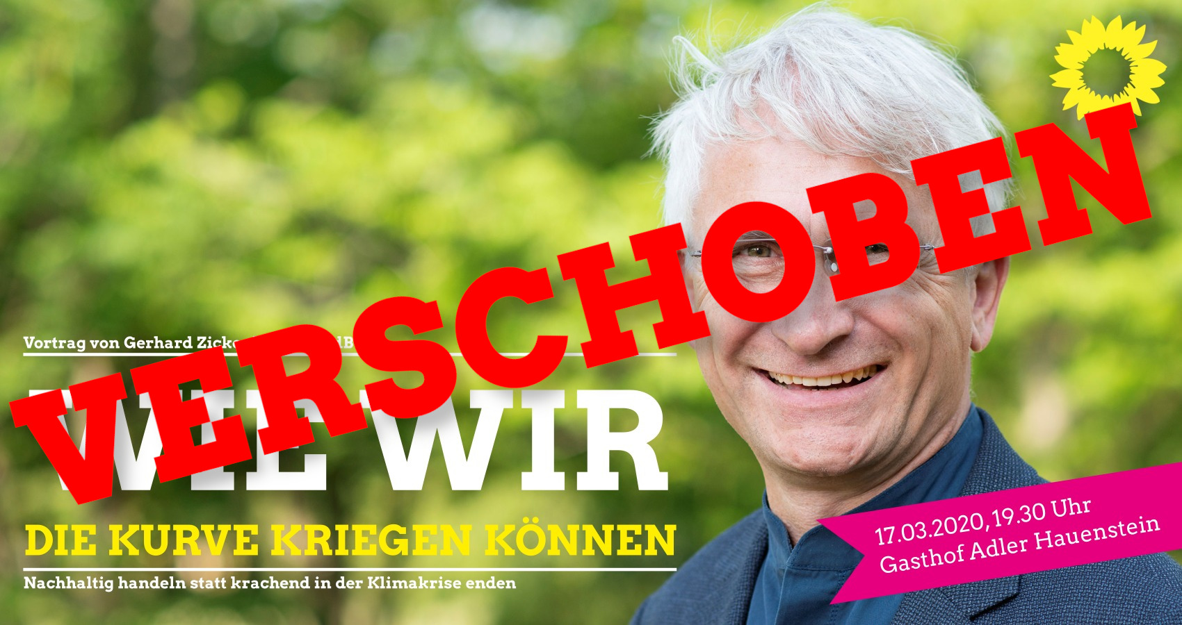 ABSAGE/VERSCHOBEN – Diskussion mit Gerhard Zickenheiner, MdB in HAUENSTEIN