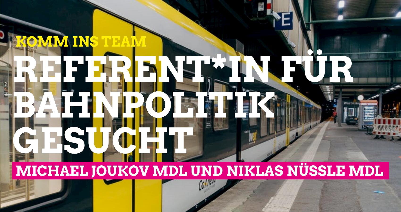 Referent*in für Schieneninfrastruktur und SPNV gesucht
